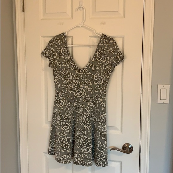 Floral knitted dress